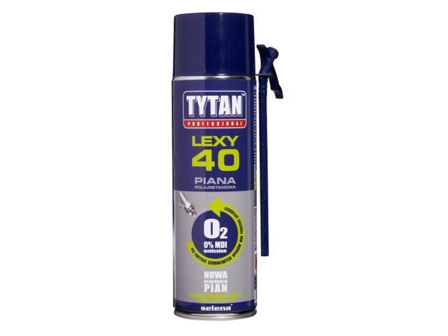 Piana wężykowa Professional O2 LEXY 40 500ml Tytan