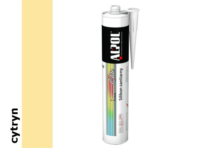 Silikon sanitarny Elite (4-25mm) cytryn ASS61 300ml Alpol