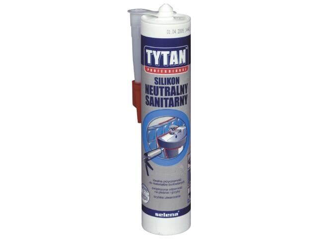 Silikon sanitarny beżowy 310ml Tytan