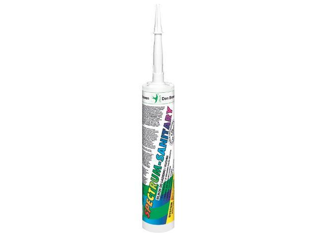 Silikon sanitarny Spectrum-Sanitary perłowy 310ml Den Braven
