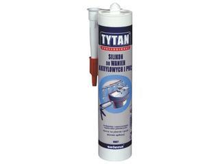 Silikon do wanien akrylowych i PVC biały 310ml Tytan