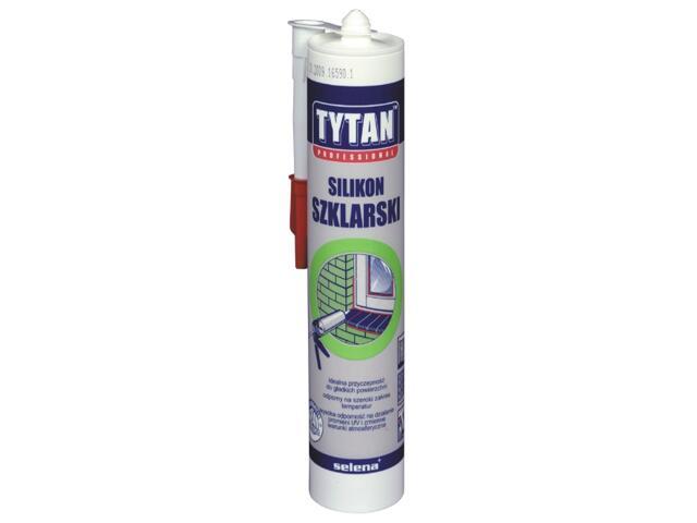 Silikon szklarski bezbarwny 310ml Tytan