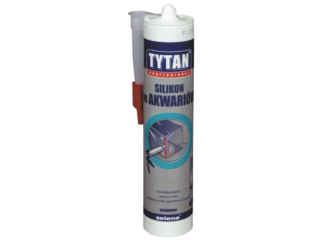 Silikon szklarski do akwarium bezbarwny 310ml Tytan