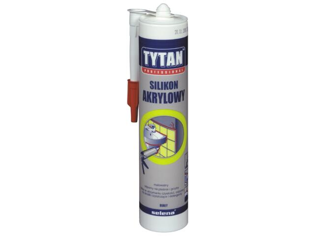 Silikon akrylowy biały 310ml Tytan