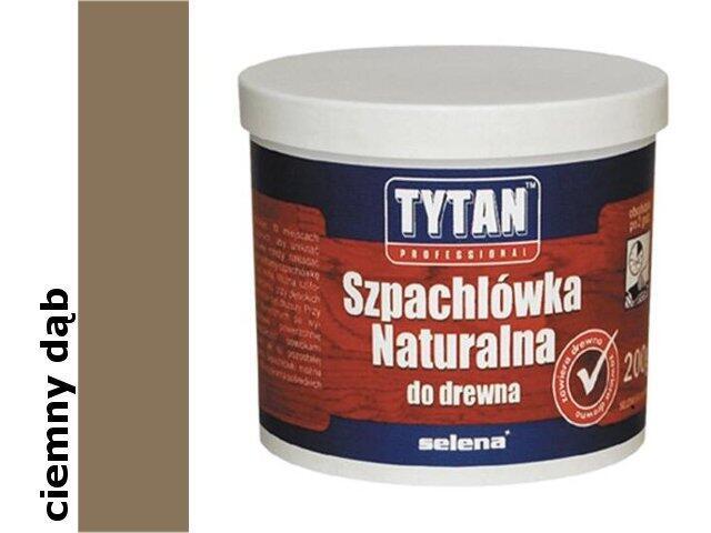Szpachla naturalna do drewna ciemny dąb 200ml Tytan