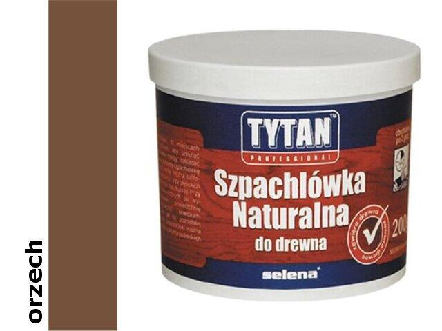 Szpachla naturalna do drewna orzech 200ml Tytan