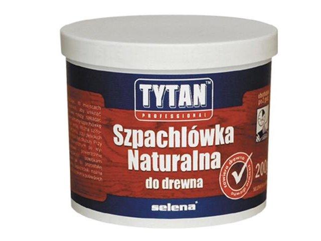 Szpachla naturalna do drewna biała 200ml Tytan