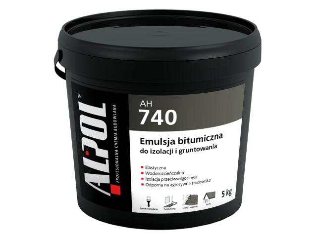 Masa bitumiczna do izolacji i gruntowania AH740 5kg Alpol