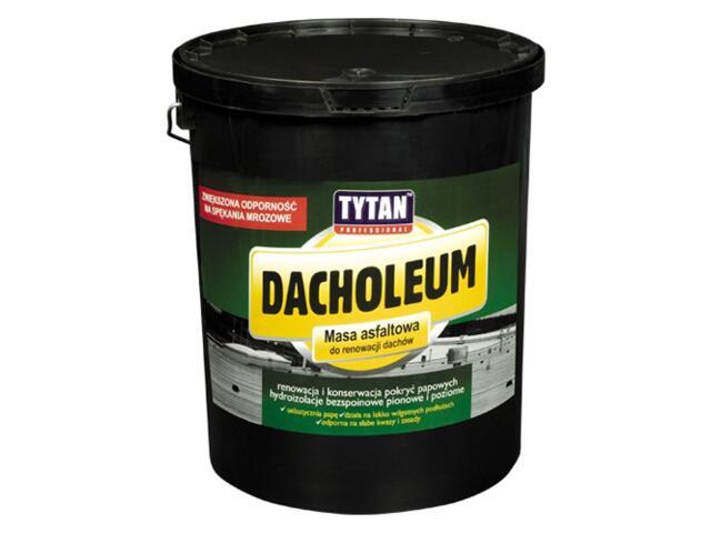 Masa asfaltowa Dacholeum do renowacji dachów 9kg Tytan