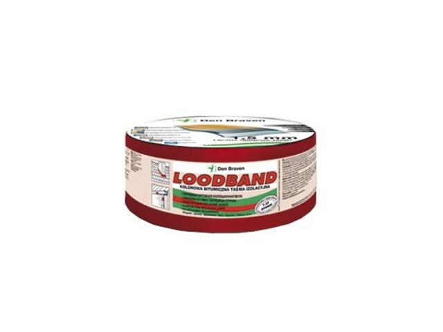 Taśma uszczelniająca Loodband ciemno czerwony 200mmx10m Den Braven