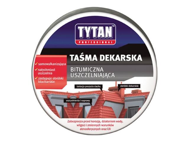 Taśma dekarska ciemny brąz 100mmx10m Tytan