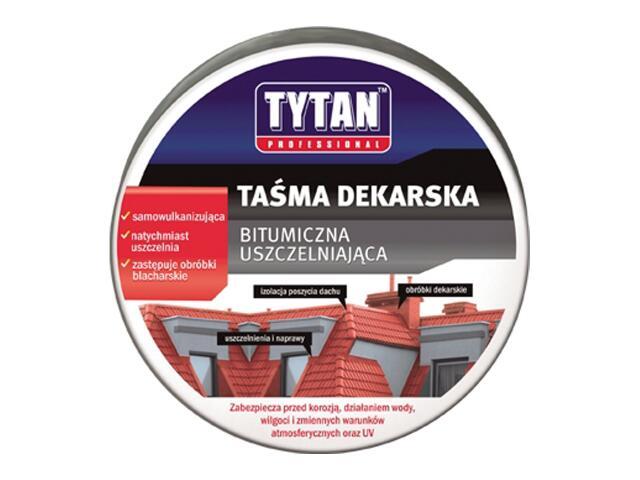 Taśma dekarska ciemny brąz 200mmx10m Tytan