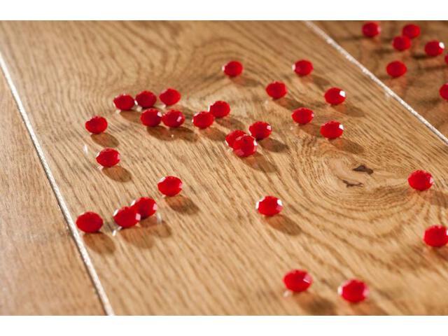 Deska lita dąb rubin fazowany olej 18mm Barlinek