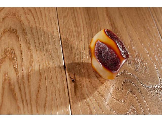 Deska lita dąb birmit szczotkowany fazowany lakier mat 18mm Barlinek