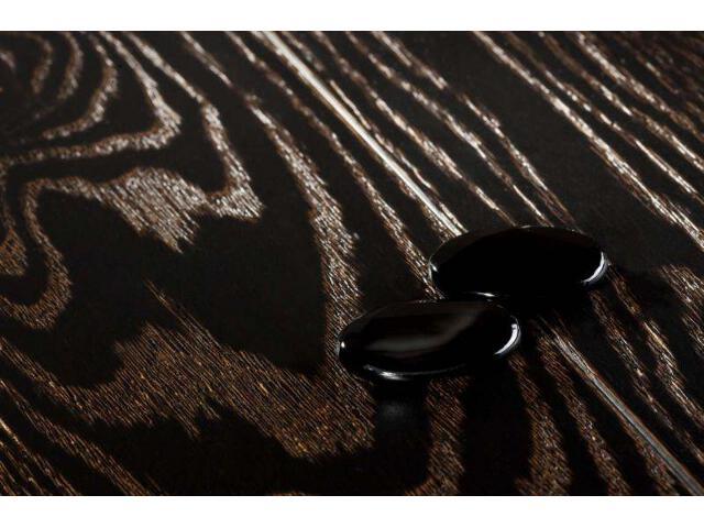 Deska lita dąb onyx szczotkowany fazowany lakier mat 18mm Barlinek