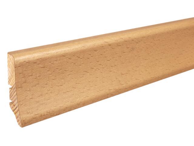 Listwa przypodłogowa buk parzony P20 lakier standard wys.58 mm Barlinek