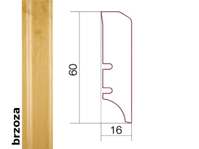 Listwa przypodłogowa brzoza P50 lakier standard wys.60 mm Barlinek