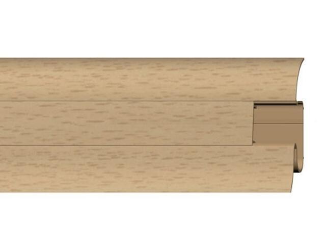 Listwa przypodłogowa 54 PVC buk n1 F0 dł. 2,5m A-PLCOX-F0-250 Prexa