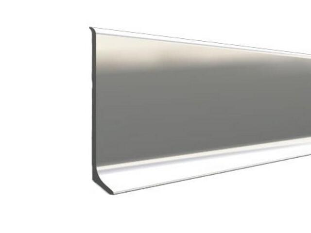 Listwa przypodłogowa 70 ALU srebro 01 dł. 2,5m A-ALU70-01-250 Aspro