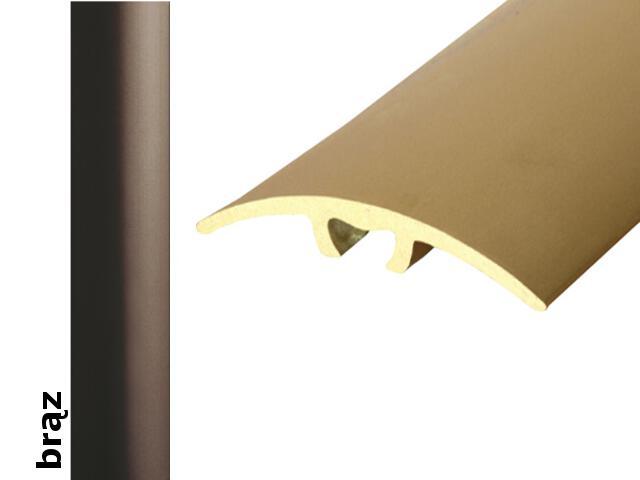 Listwa dylatacyjna Effect Standard A66 z uszczelką silikonową brąz 360cm Effector