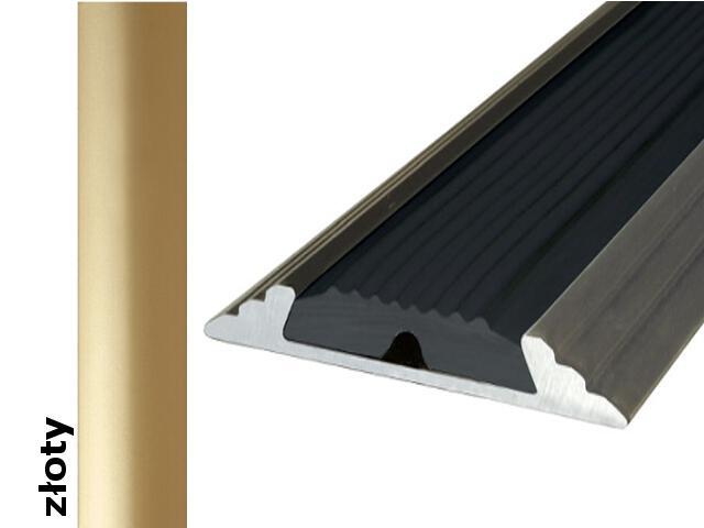 Listwa dylatacyjna Effect Standard A10 z wkładką antypoślizgową złoto 120cm Effector