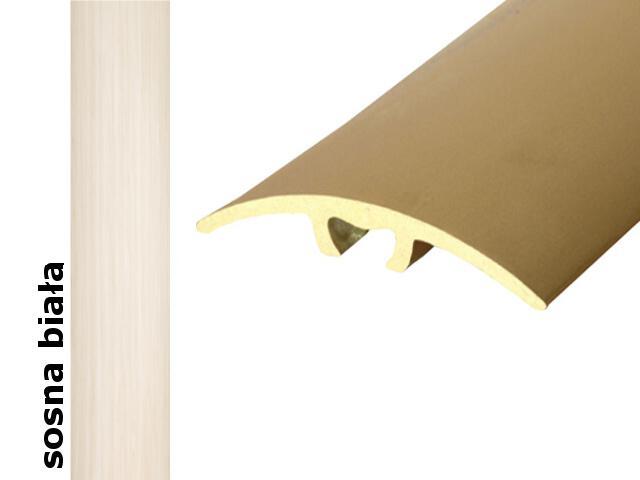 Listwa dylatacyjna Effect Standard A66 z uszczelką silikonową sosna biała 180cm Effector