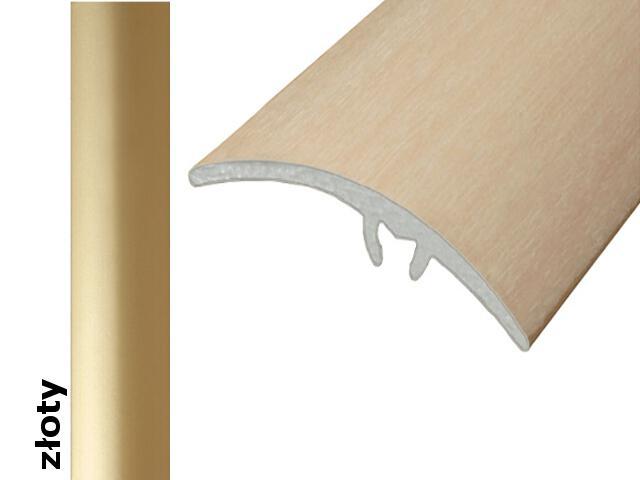 Listwa wyrównująca Effect Standard A65 z uszczelką silikonową złoto 180cm Effector