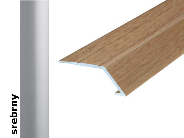 Listwa wyrównująca Effect Standard A45 samoprzylepna srebro 90cm Effector
