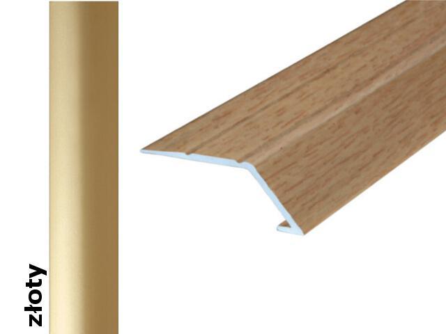 Listwa wyrównująca Effect Standard A45 samoprzylepna złoto 180cm Effector