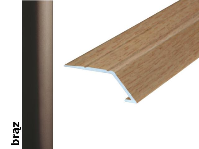 Listwa wyrównująca Effect Standard A45 samoprzylepna brąz 180cm Effector