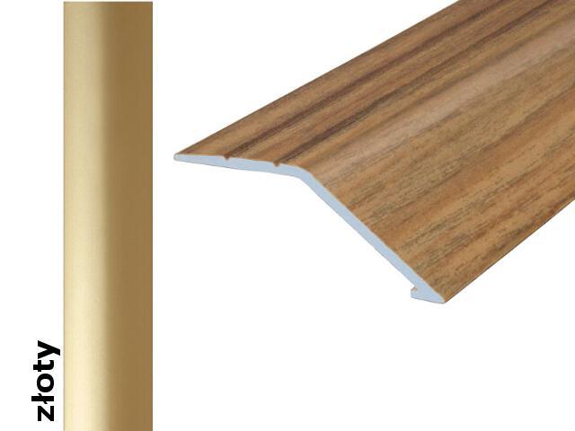 Listwa wyrównująca Effect Standard A47 samoprzylepna złoto 180cm Effector