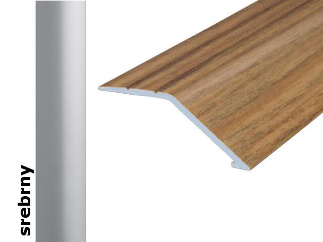 Listwa wyrównująca Effect Standard A47 samoprzylepna srebro 180cm Effector