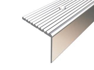 Listwa schodowa 34x20 ALU srebro 01 dł. 1,8m 1-12106-01-180 Borck
