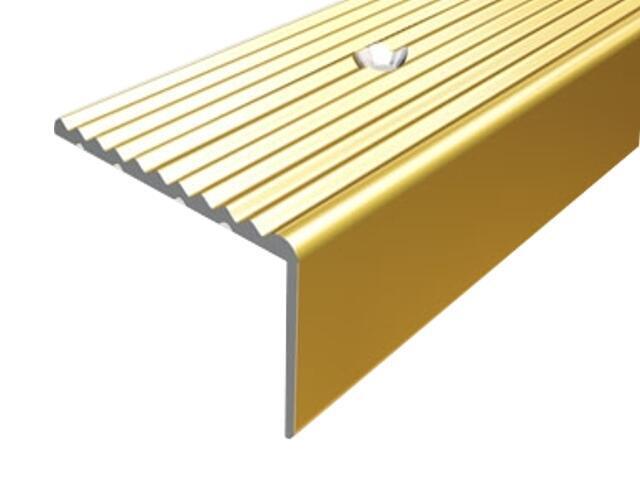 Listwa schodowa 34x20 ALU złoto 03 dł. 0,9m 1-12106-03-090 Borck