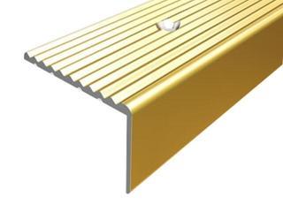 Listwa schodowa 34x20 ALU złoto 03 dł. 1,8m 1-12106-03-180 Borck