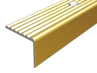 Listwa schodowa 19x15 ALU złoto 03 dł. 0,9m 1-12105-03-090 Borck