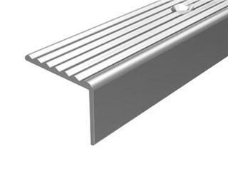 Listwa schodowa 19x15 ALU srebro 01 dł. 1,8m 1-12105-01-180 Borck