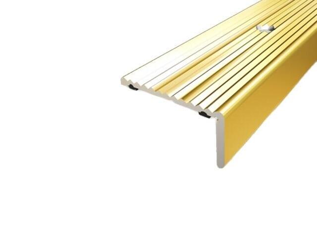 Listwa schodowa 40x20 ALU złoto 03 dł. 1,35m 1-06437-03-135 Aspro