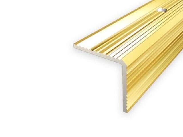 Listwa schodowa 20x20 ALU złoto 03 dł. 1,8m 1-07696-03-180 Aspro