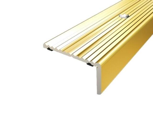 Listwa schodowa 40x20 ALU złoto 03 dł. 1,8m 1-06437-03-180 Aspro