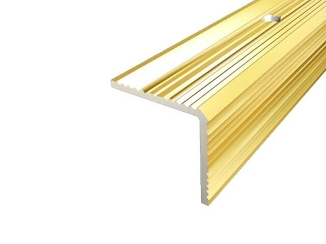 Listwa schodowa 35x35 ALU złoto 03 dł. 1,8m 1-07669-03-180 Aspro