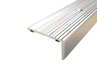 Listwa schodowa 40x20 ALU srebro 01 dł. 1,35m 1-06437-01-135 Aspro