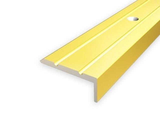 Listwa schodowa 25x10 ALU złoto 03 dł. 2,7m 1-06316-03-270 Aspro