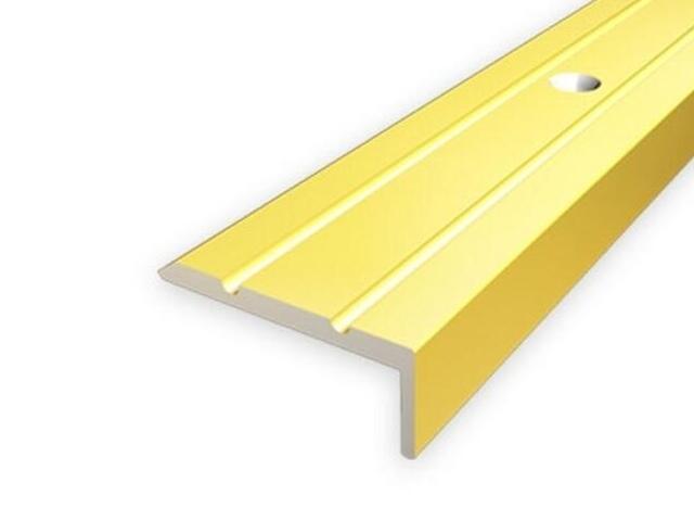 Listwa schodowa 25x10 ALU złoto 03 dł. 0,9m 1-06316-03-090 Aspro