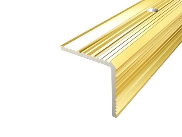 Listwa schodowa 35x35 ALU złoto 03 dł. 0,9m 1-07669-03-090 Aspro