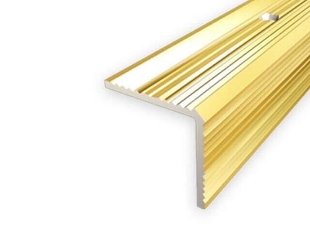 Listwa schodowa 20x20 ALU złoto 03 dł. 2,7m 1-07696-03-270 Aspro