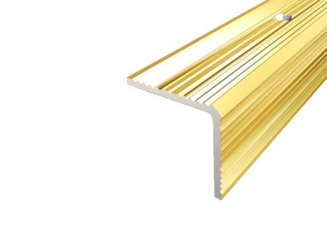 Listwa schodowa 30x30 ALU złoto 03 dł. 1,35m 1-09167-03-135 Aspro