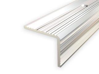 Listwa schodowa 20x20 ALU srebro 01 dł. 2,7m 1-07696-01-270 Aspro