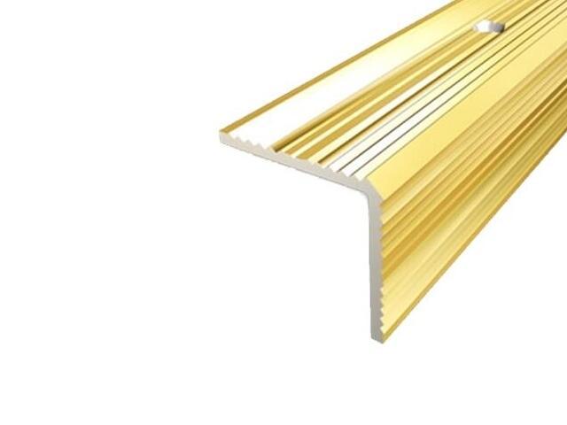 Listwa schodowa 30x30 ALU złoto 03 dł. 1,8m 1-09167-03-180 Aspro