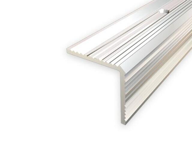 Listwa schodowa 30x30 ALU srebro 01 dł. 2,7m 1-09167-01-270 Aspro